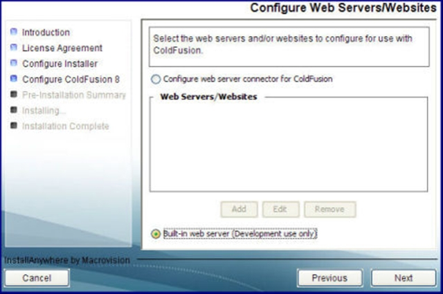Select Built In Webserver