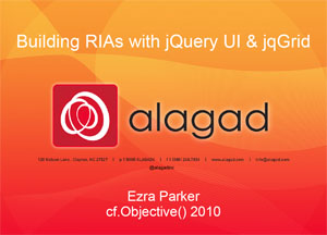 Building RIAs with jQuery and jqGrid
