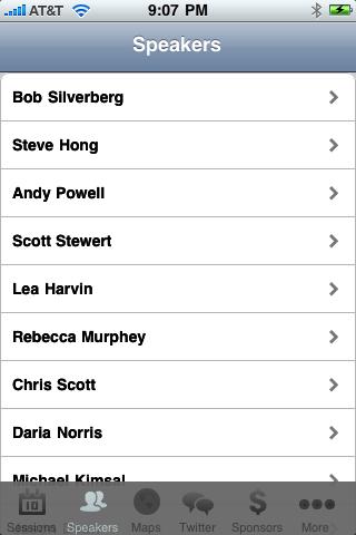 NCDevCon iPhone App - Speakers